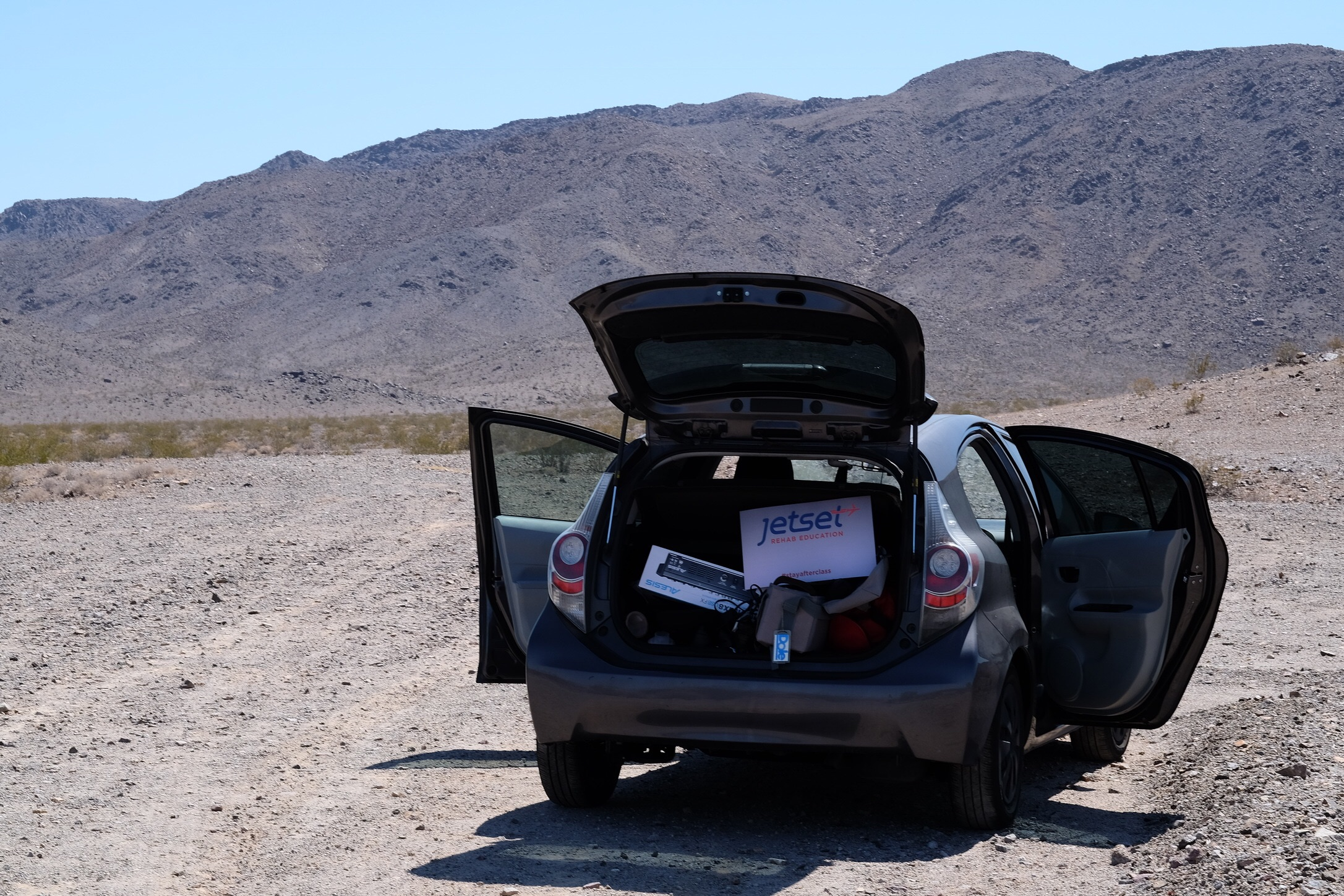 Pulling over to snap some photos on the way to Vegas. Location:  Zzyzx Rd. In the Mojave Desert .