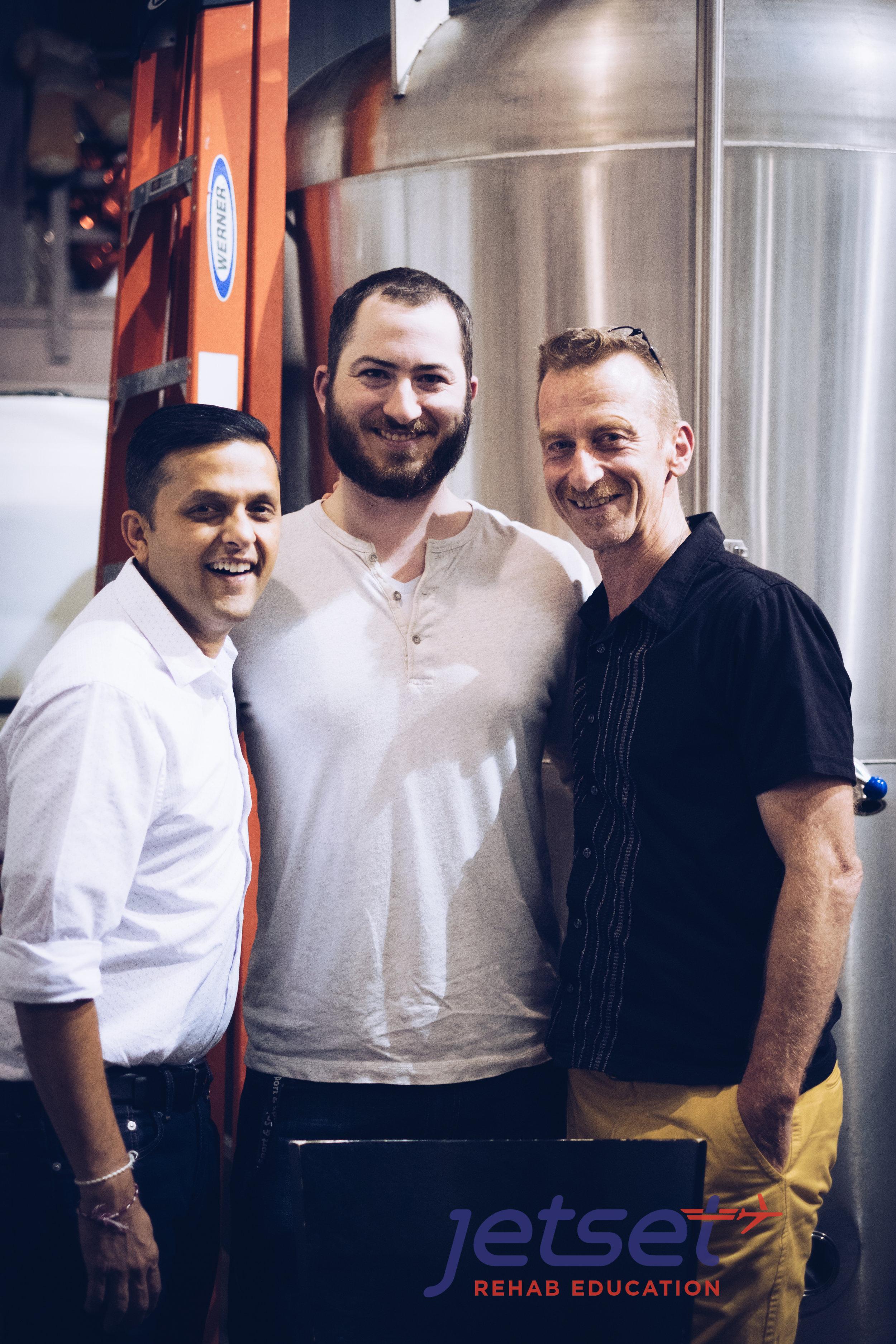 Jay Bhatt, Co-Founder of Jetset Rehab Education  , Scot Morrison and  Phillip Snell.