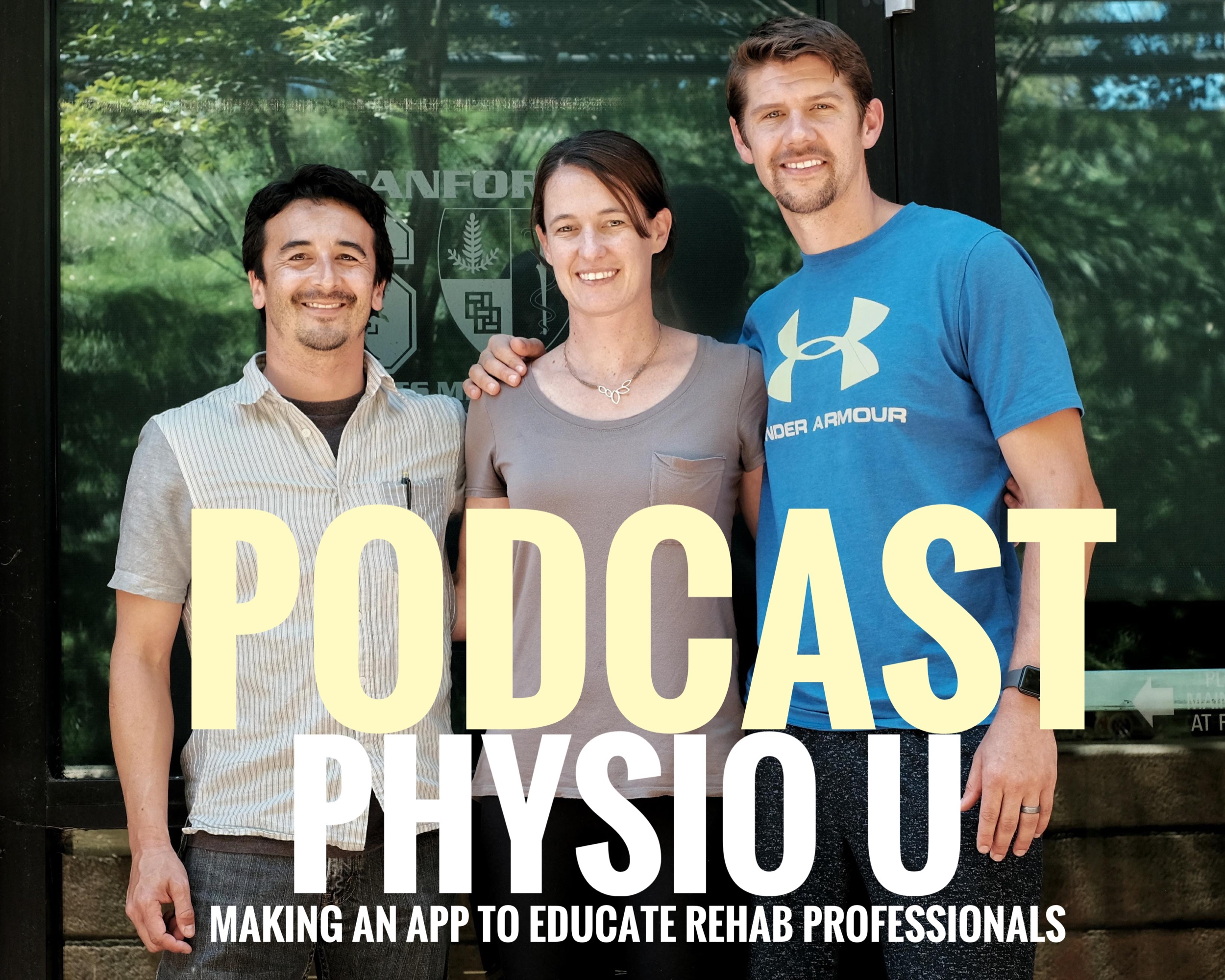 Left to Right  Co-Founder of Jetset Rehab Education Randal Glaser, Co — founders of Physio U Anne LeMoine and Marshall LeMoine