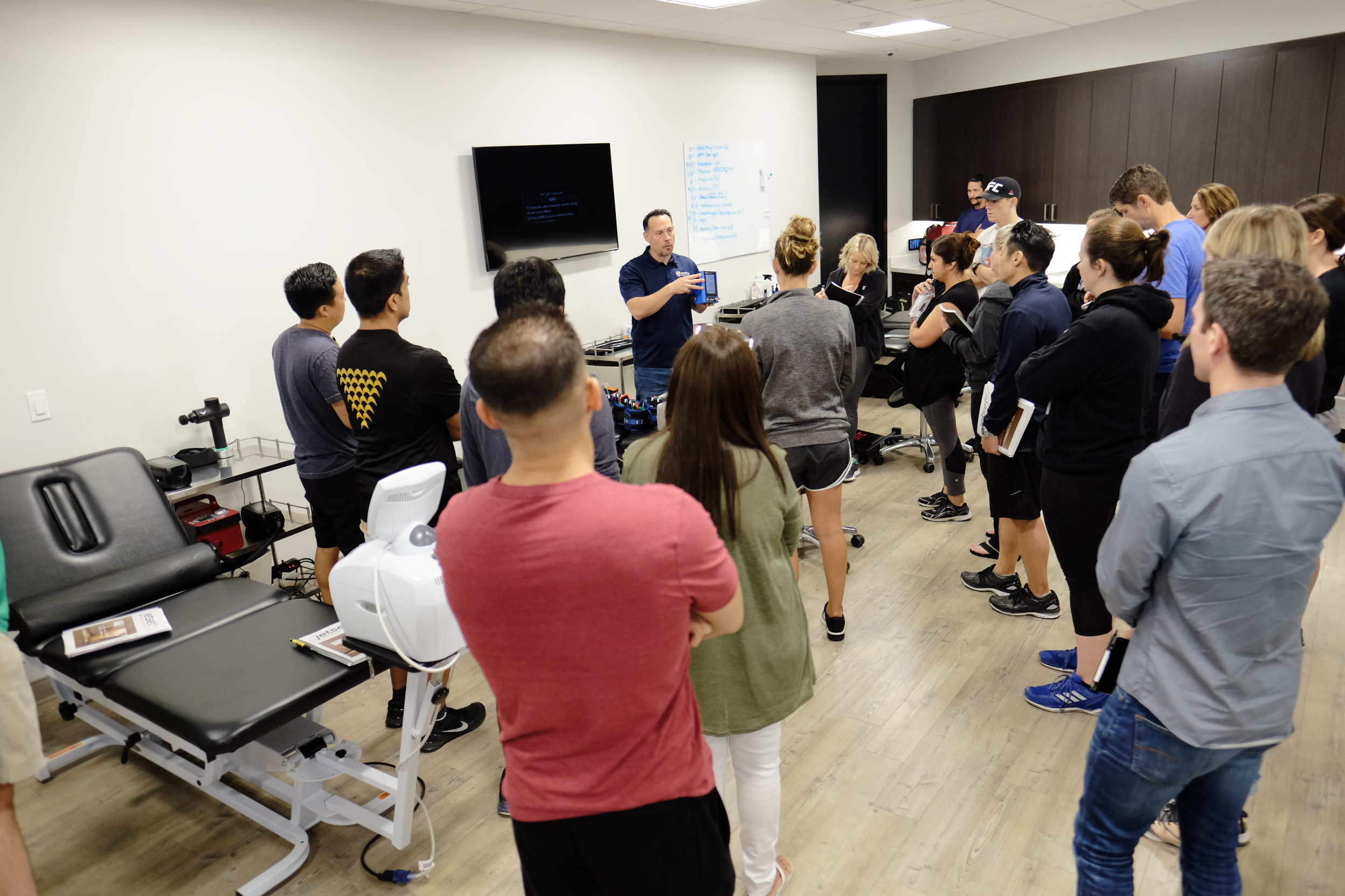 Inside the UFC Physical Therapy clinic.