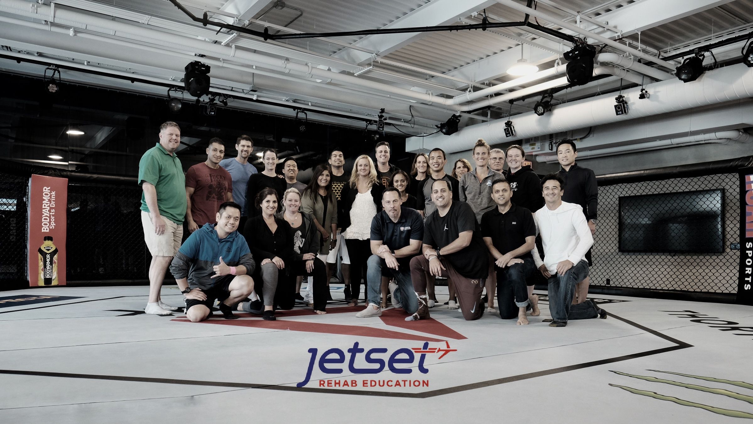 The official Jetset Rehab Education octagon photo.