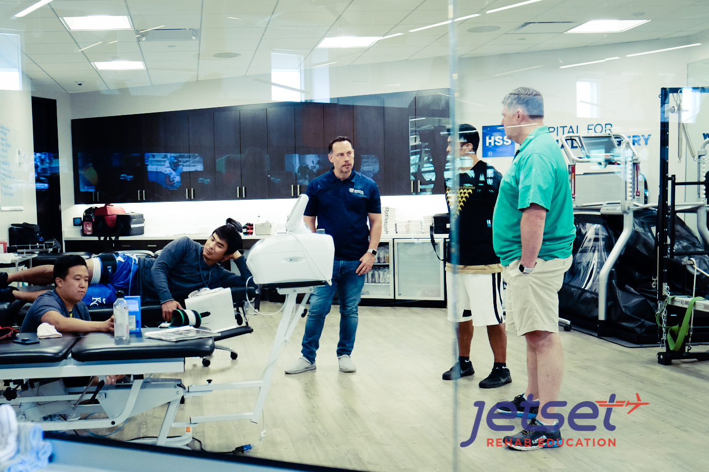We keep our classes small at Jetset Rehab Education. This way the instructor is readily available and there are enough units for everyone to practice with multiple times.