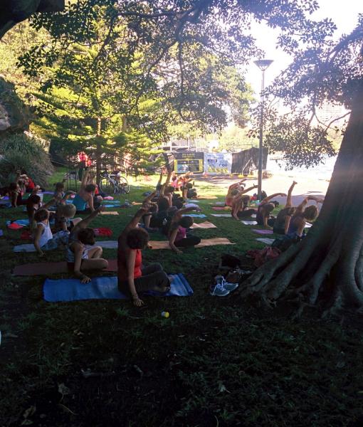 Most scenic yoga experience so far.