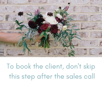 wedding planner sales call