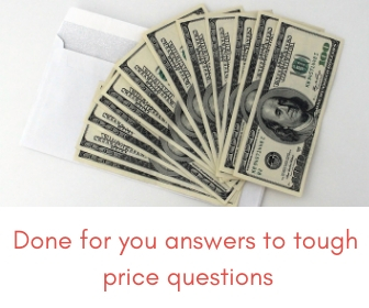 wedding planner answers to price questions