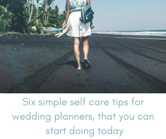 self care tips for wedding planners