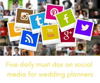 social media must dos for wedding planners