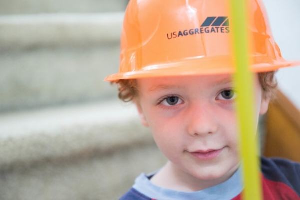 With two little boys, a construction site is often the subject matter.