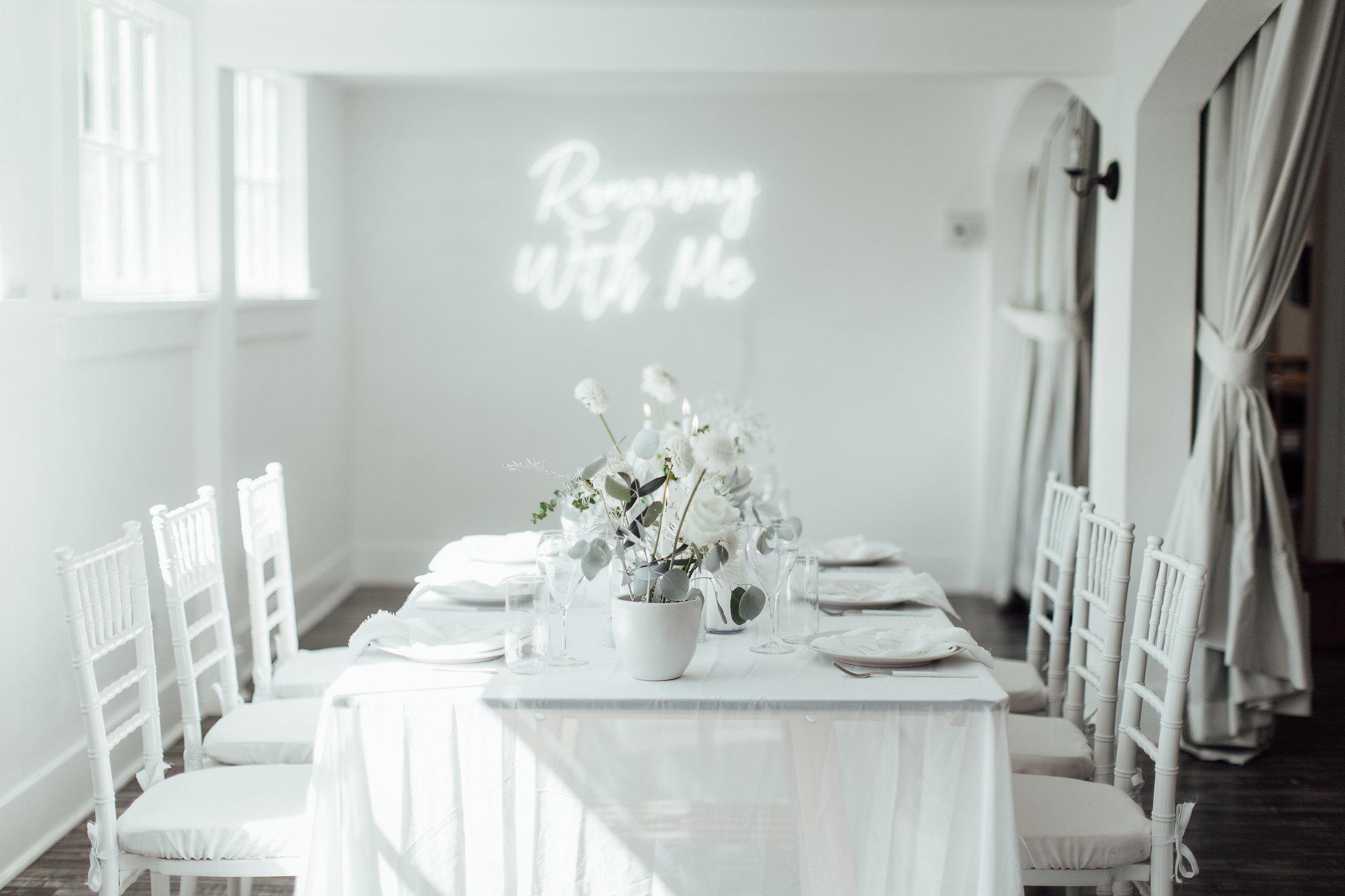 A New Winter Mix: Monochromatic White Wedding Styled Shoot