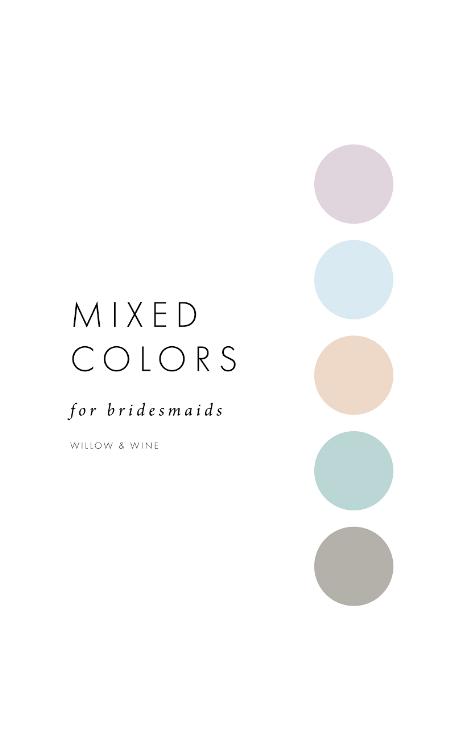 5 Bridesmaid Color Scheme Ideas: Mixed Colors