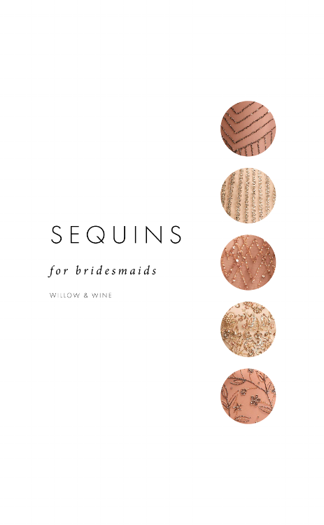5 Bridesmaid Color Scheme Ideas: Sequins