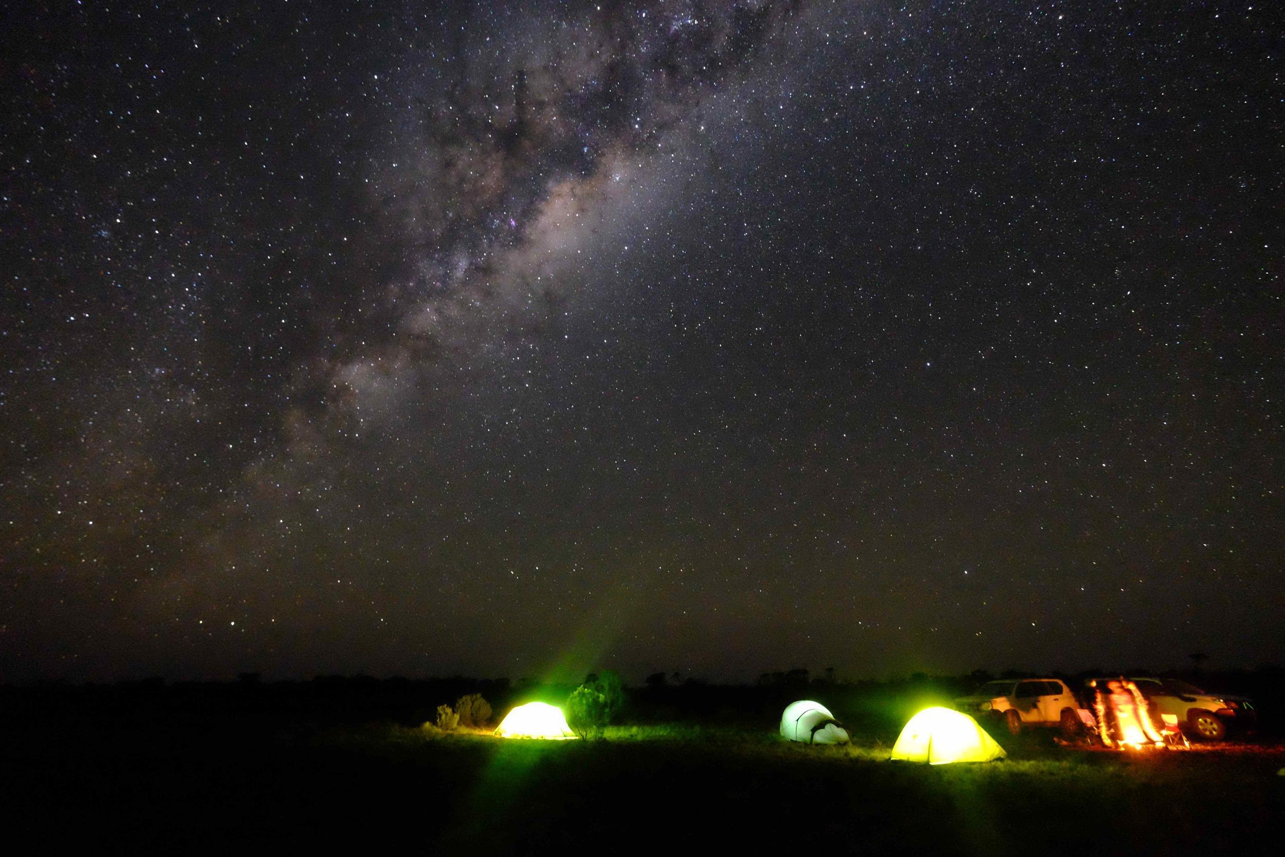 Camp Nullarbor night sky - WOW!