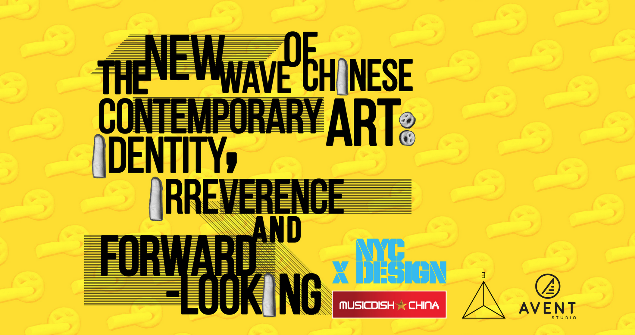 poster of the event: the New Wave of Chinese Contemporary Art: Identity, Irreverence and Forward-looking