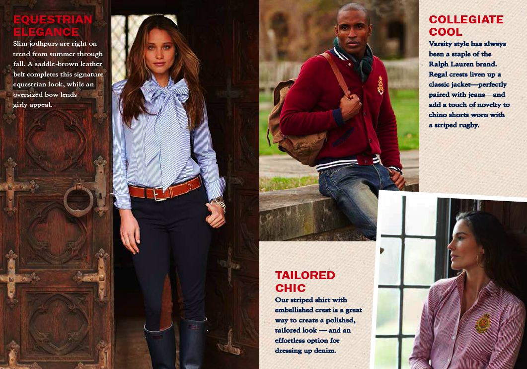 These styling captions challenged me to write for a traditional layout and text treatment while explaining the virtue of buying entire head-to-toe looks.