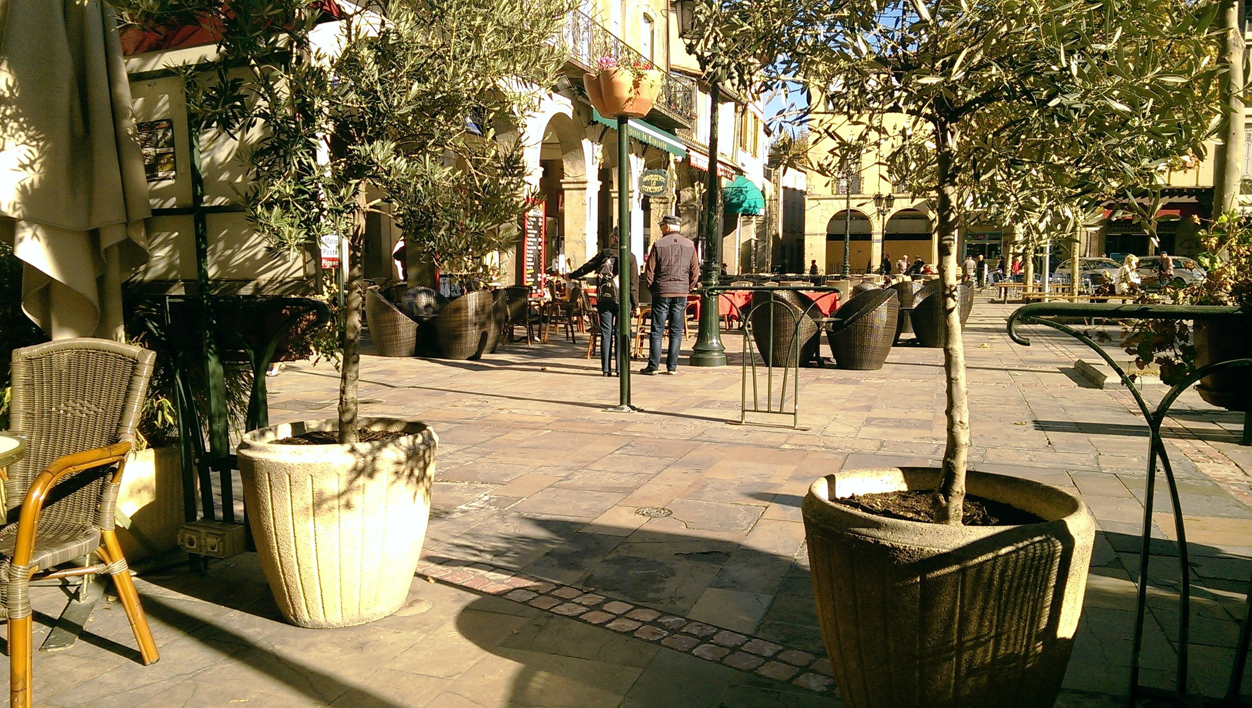 Place de la Republique seen from Le Grand Cafe, Limoux
