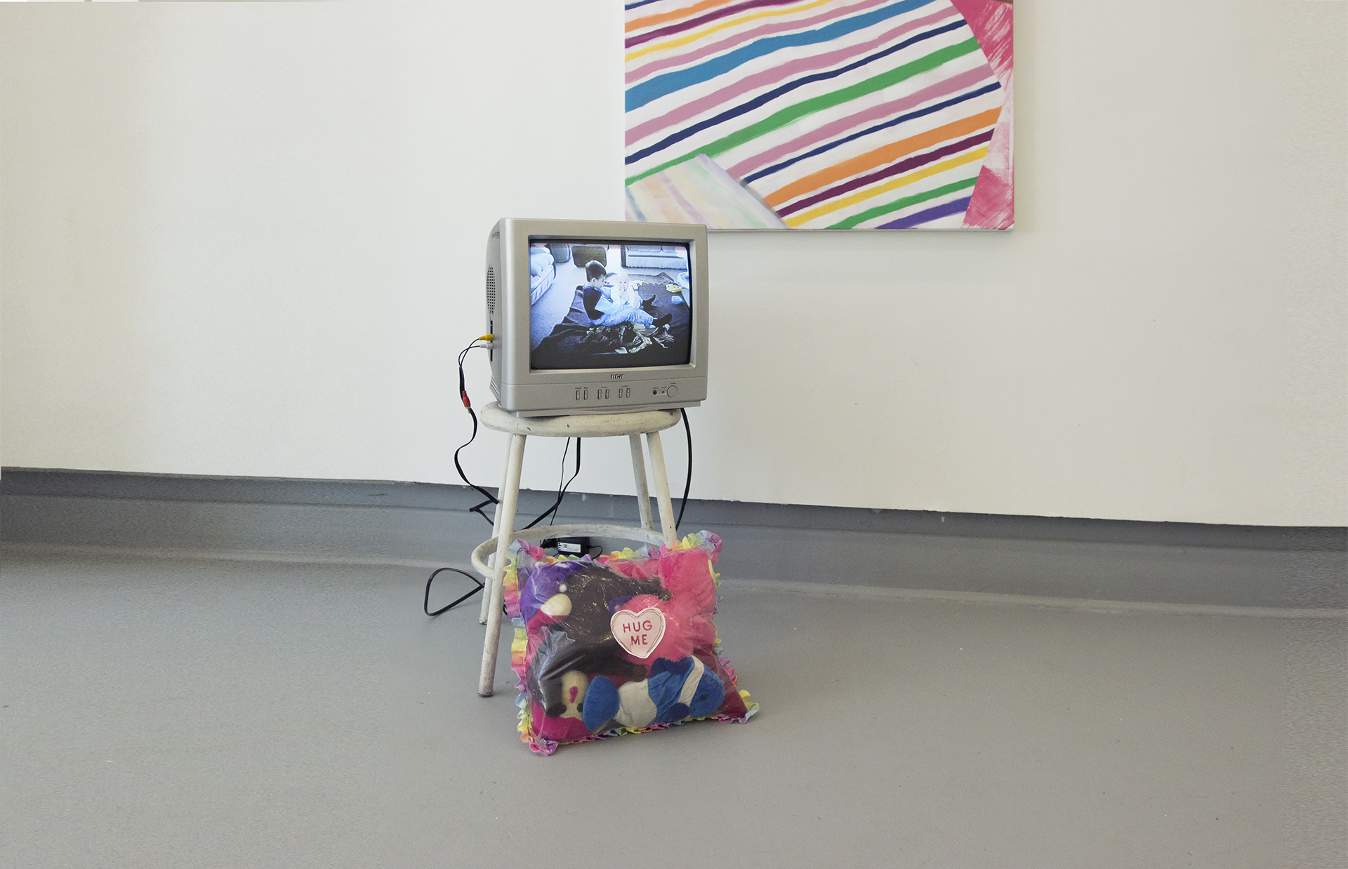 """We Could Be   Video installation on 13"""" CRT Television using family home videos.  2017"""