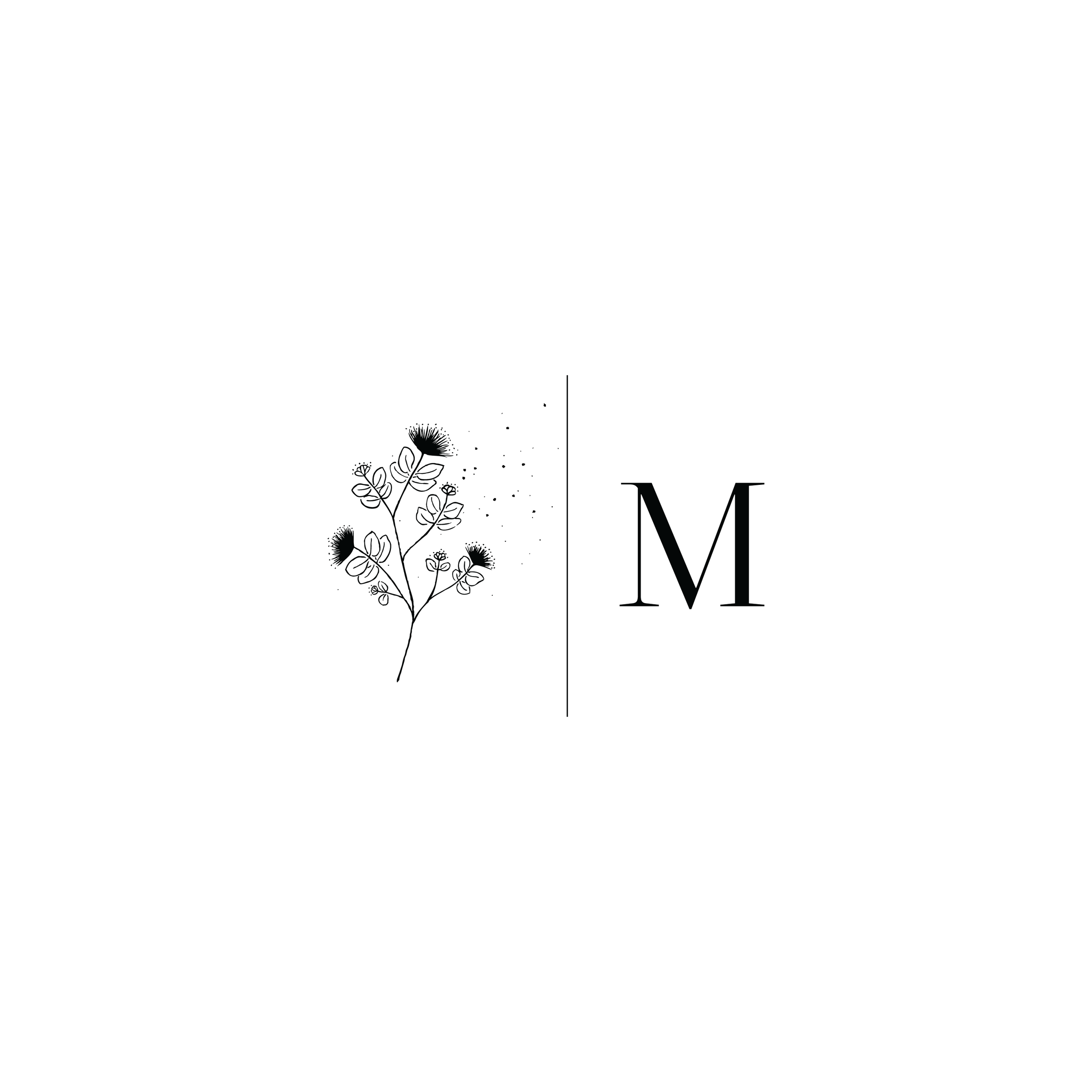 Megan Moura Photography Logo Monogram Variation