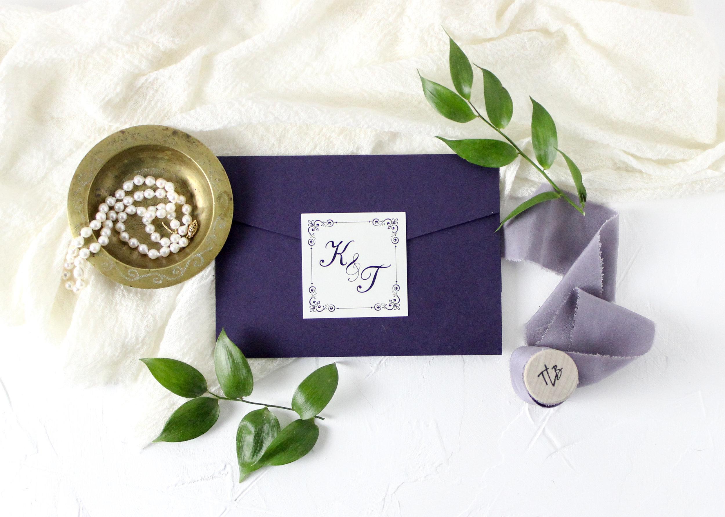 Classic Pocket Folder Wedding Invitation