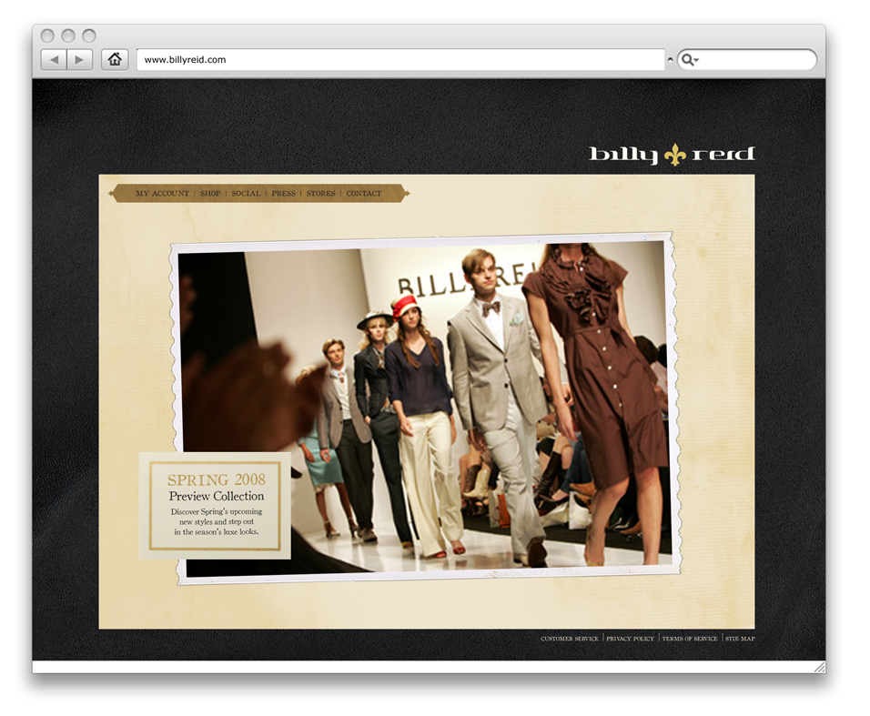 BILLY REID SITE DESIGN - MAIN