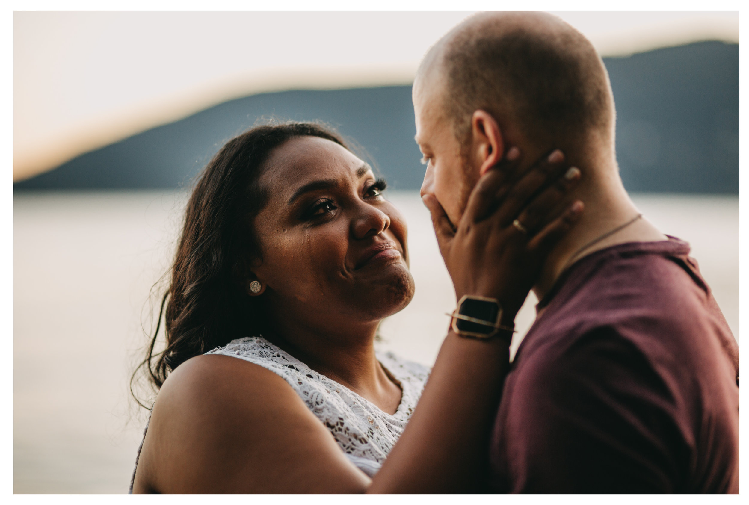 "<img src=""engagement.jpg"" alt=""girl looks lovingly into fiance's eyes while tearing up with happiness "">"