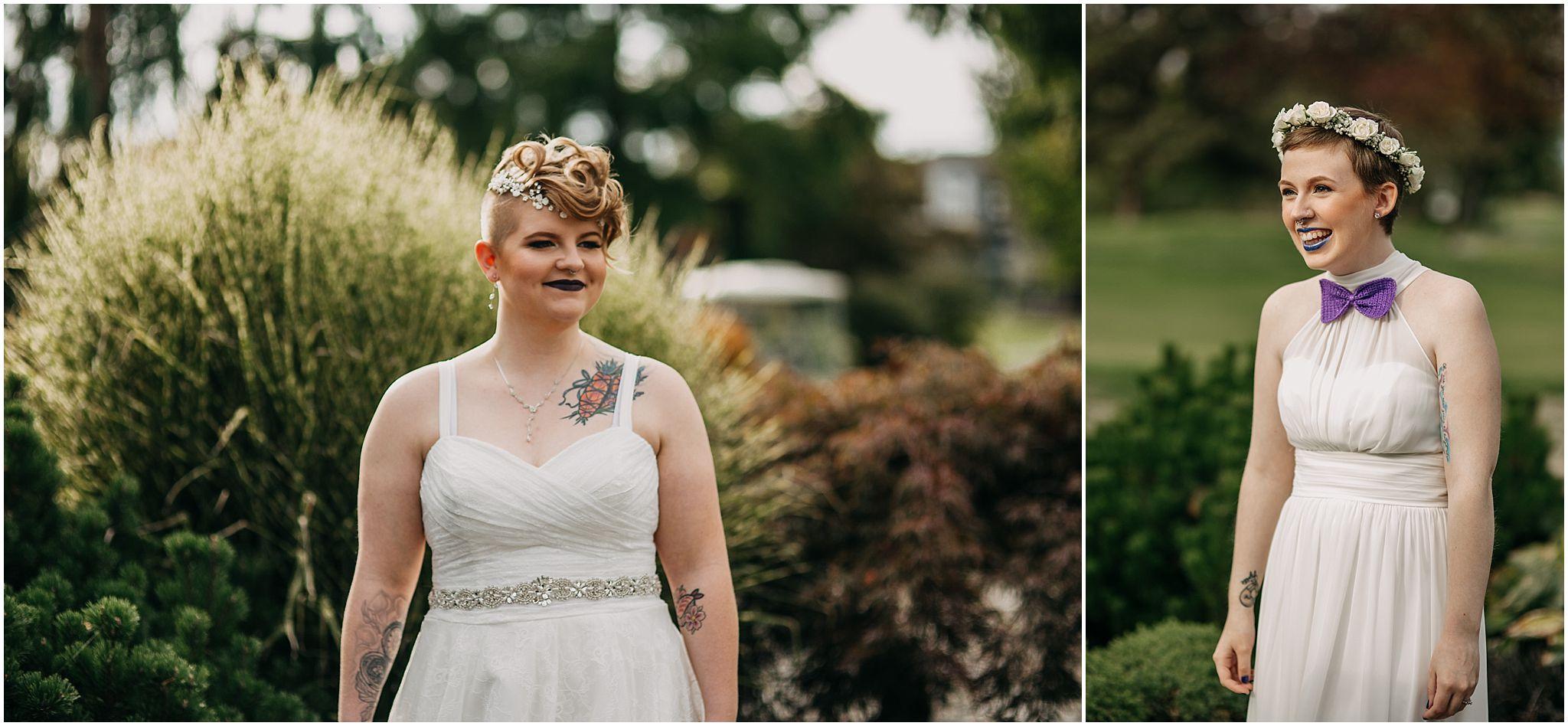 same sex couple first look reactions pitt meadows wedding