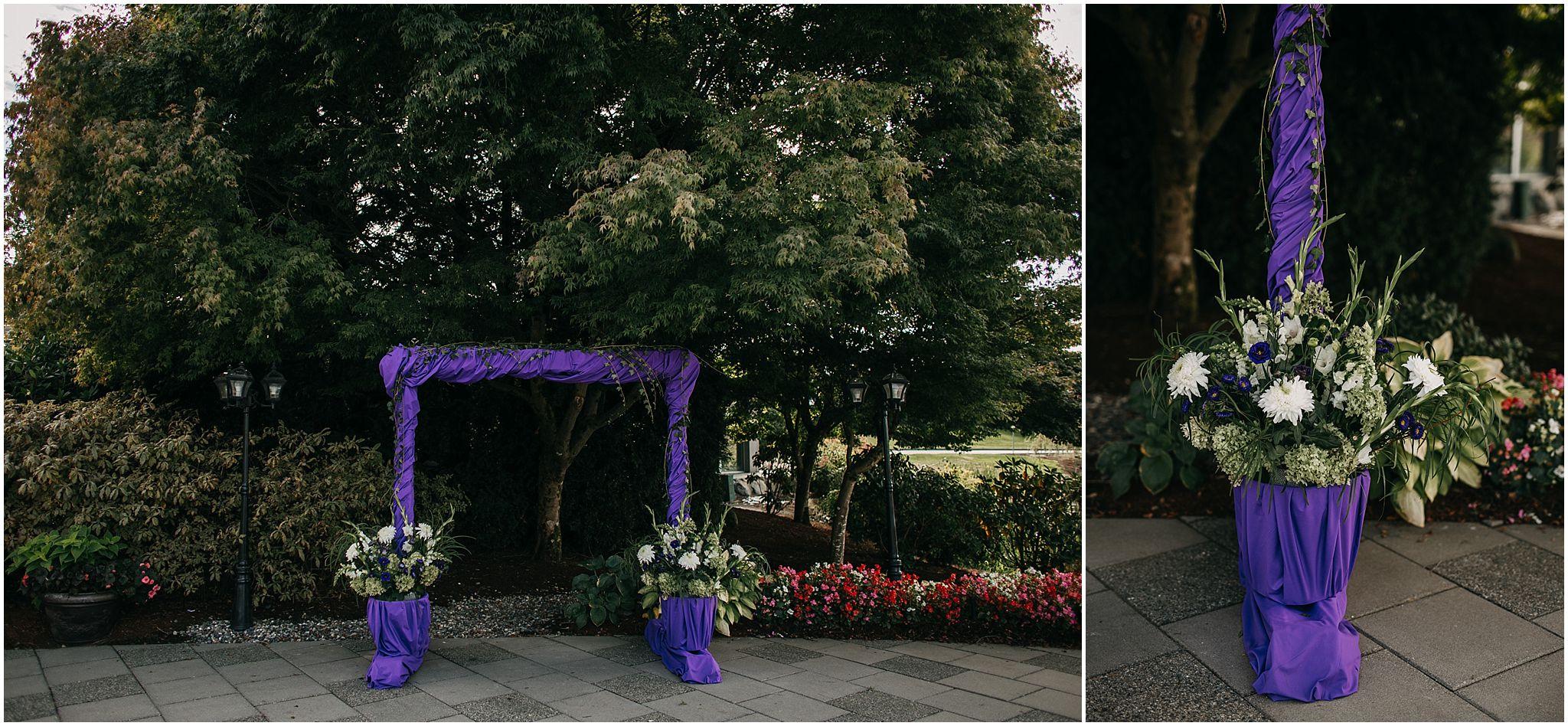 pitt meadows wedding arch flowers diy same sex couple