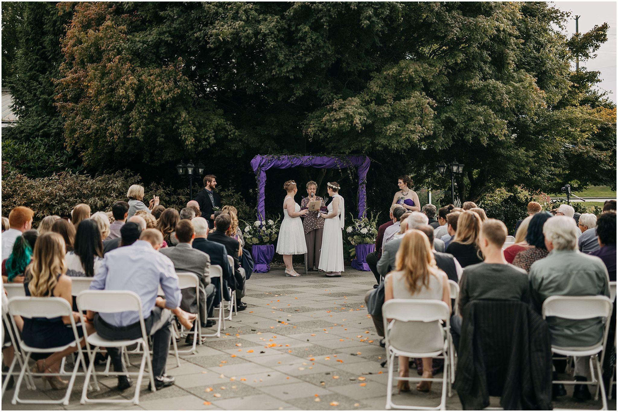 same sex couple wedding ceremony pitt meadows outdoors