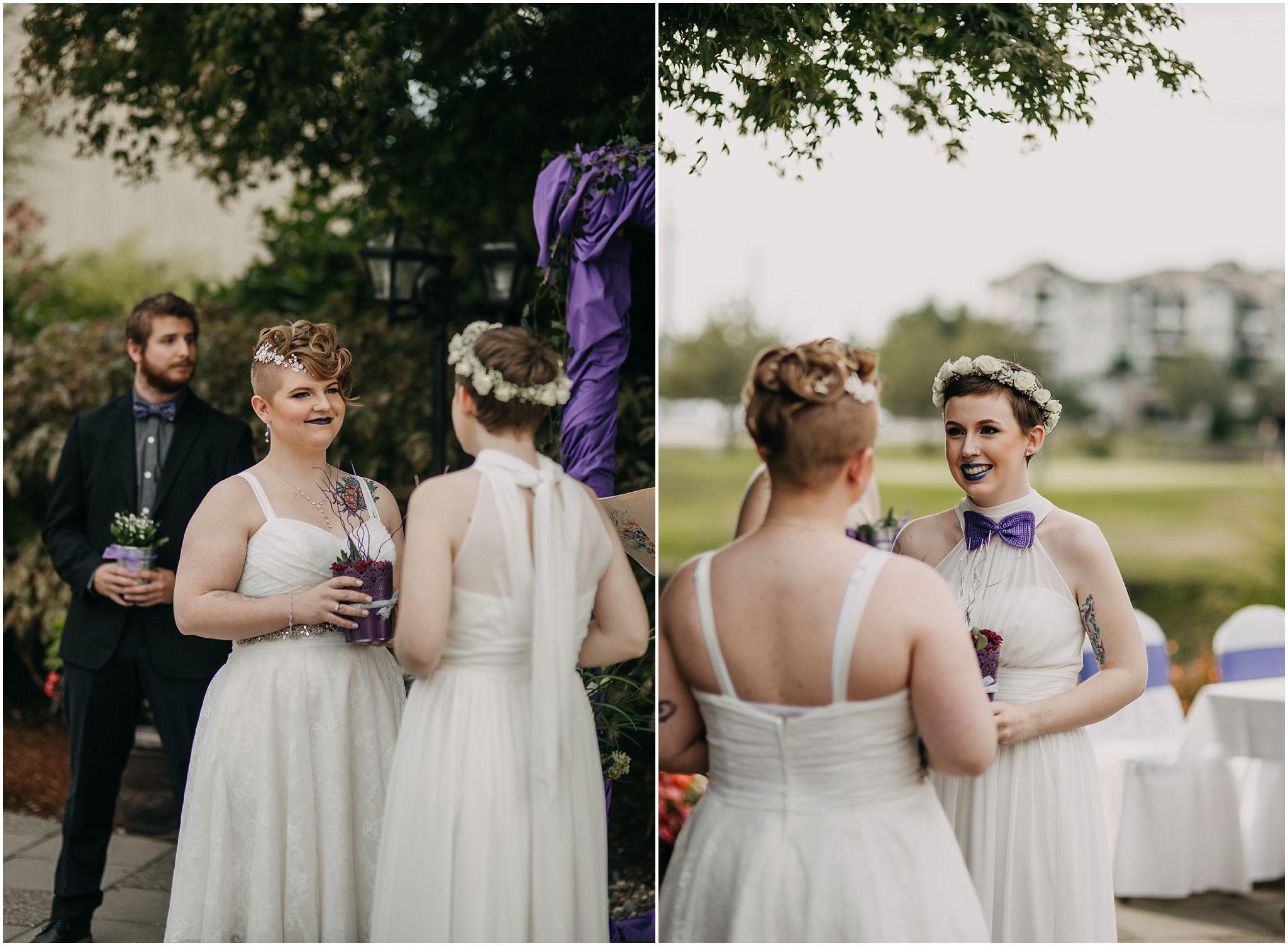 same sex couple wedding ceremony reactions pitt meadows