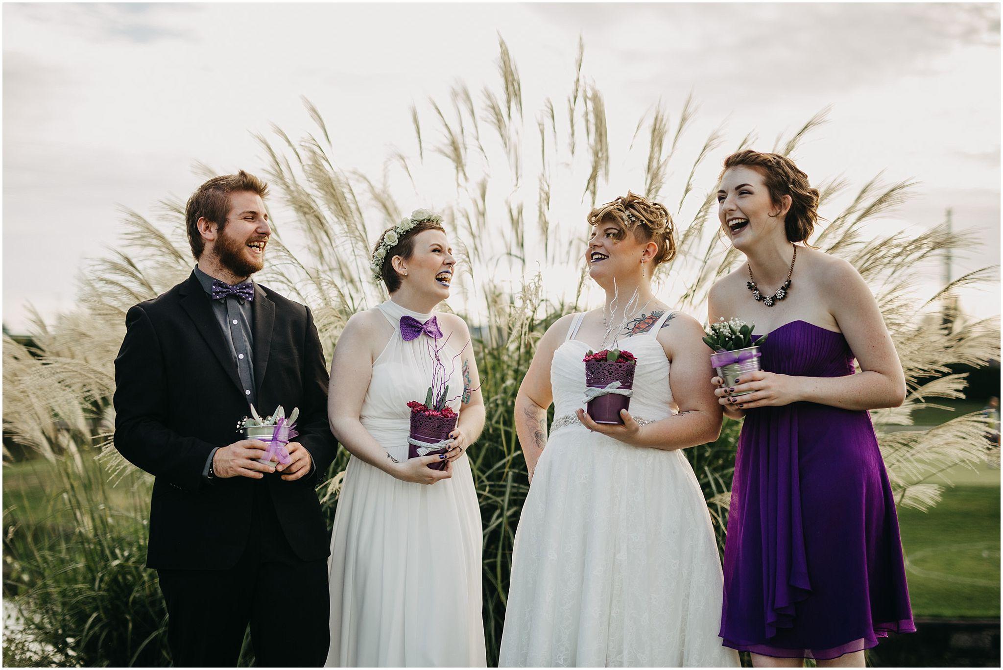 wedding party photo pitt meadows wedding