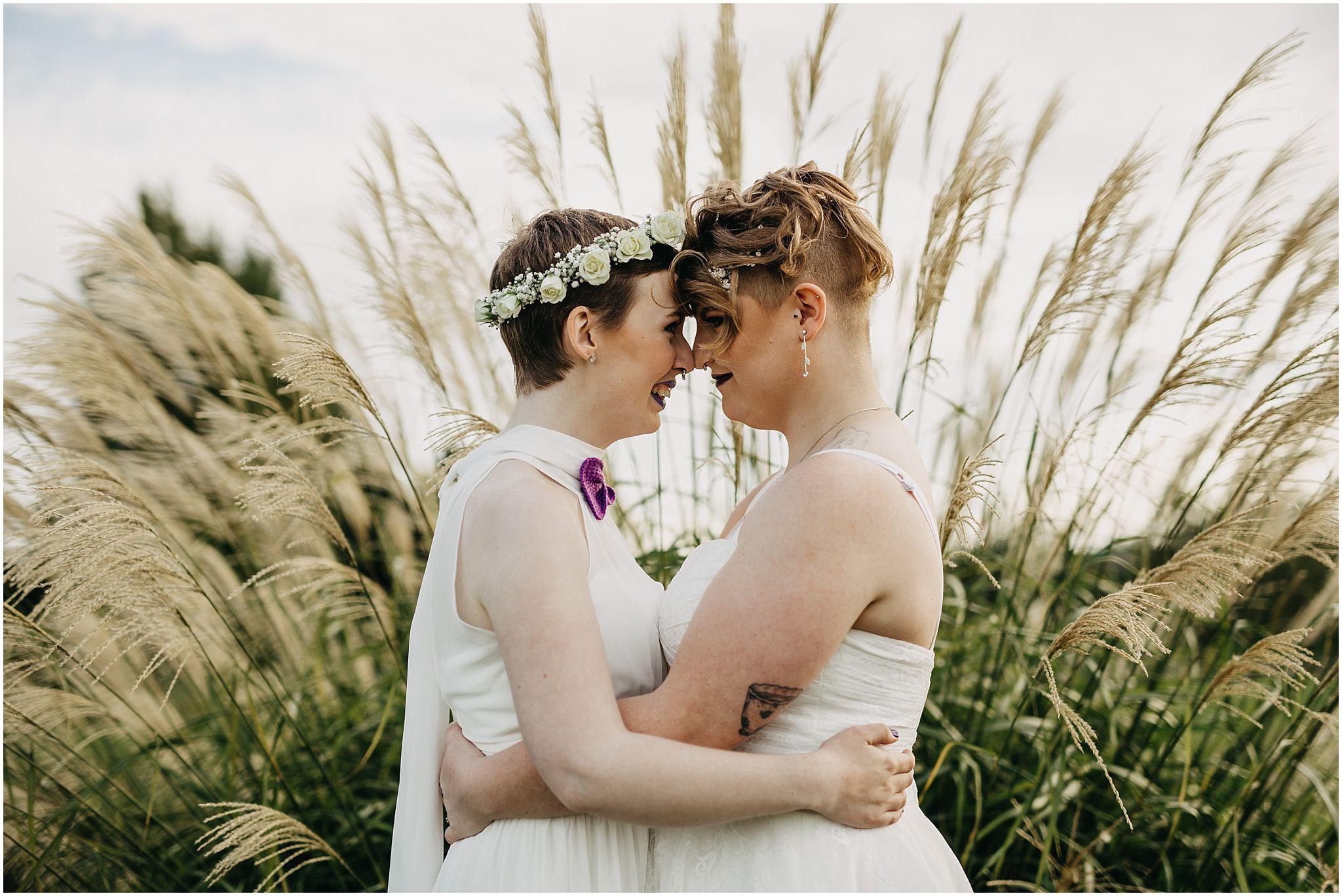same sex couple wedding portrait pitt meadows outdoor wedding