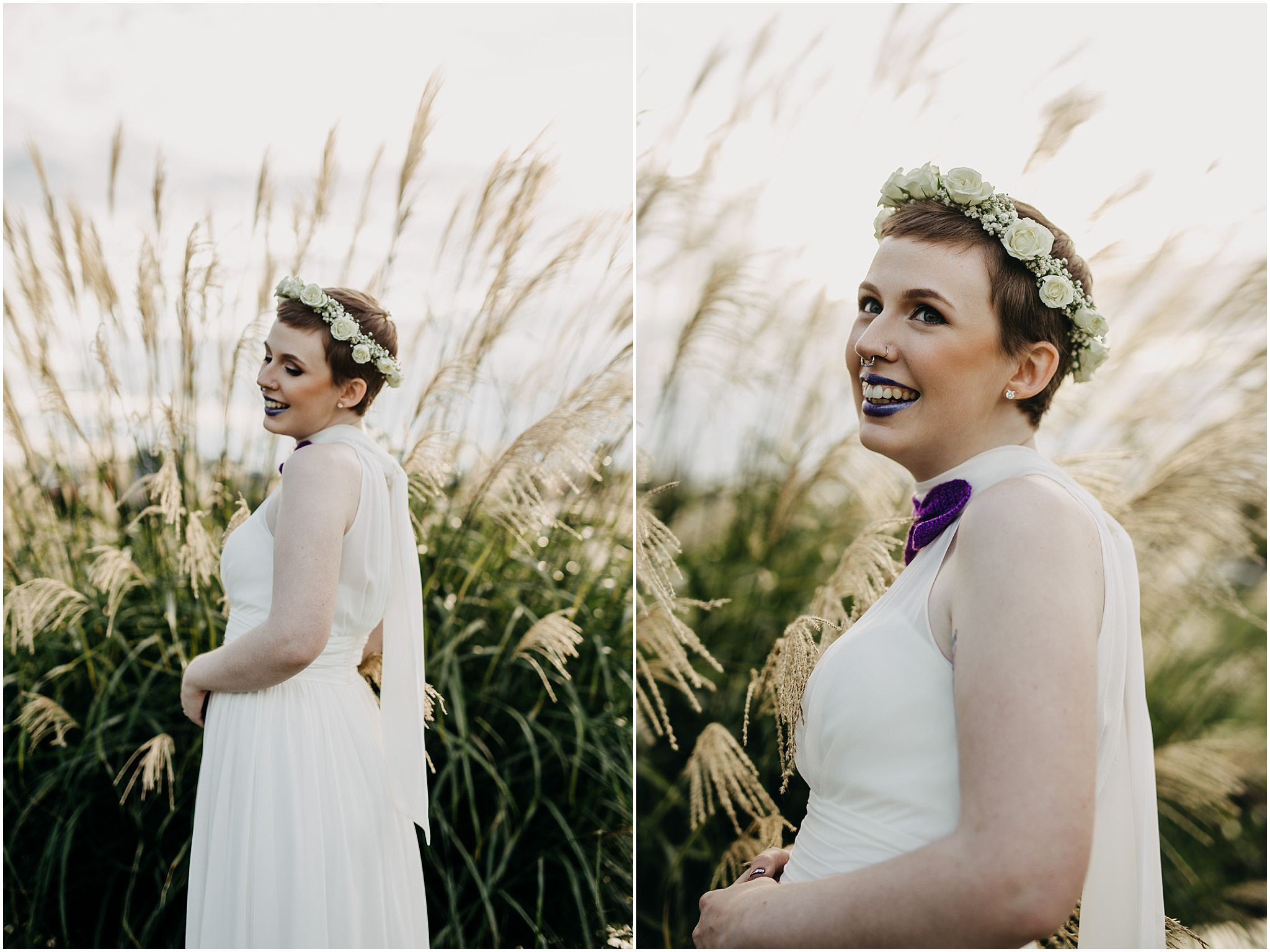 bride wedding details pitt meadows wedding flower crown