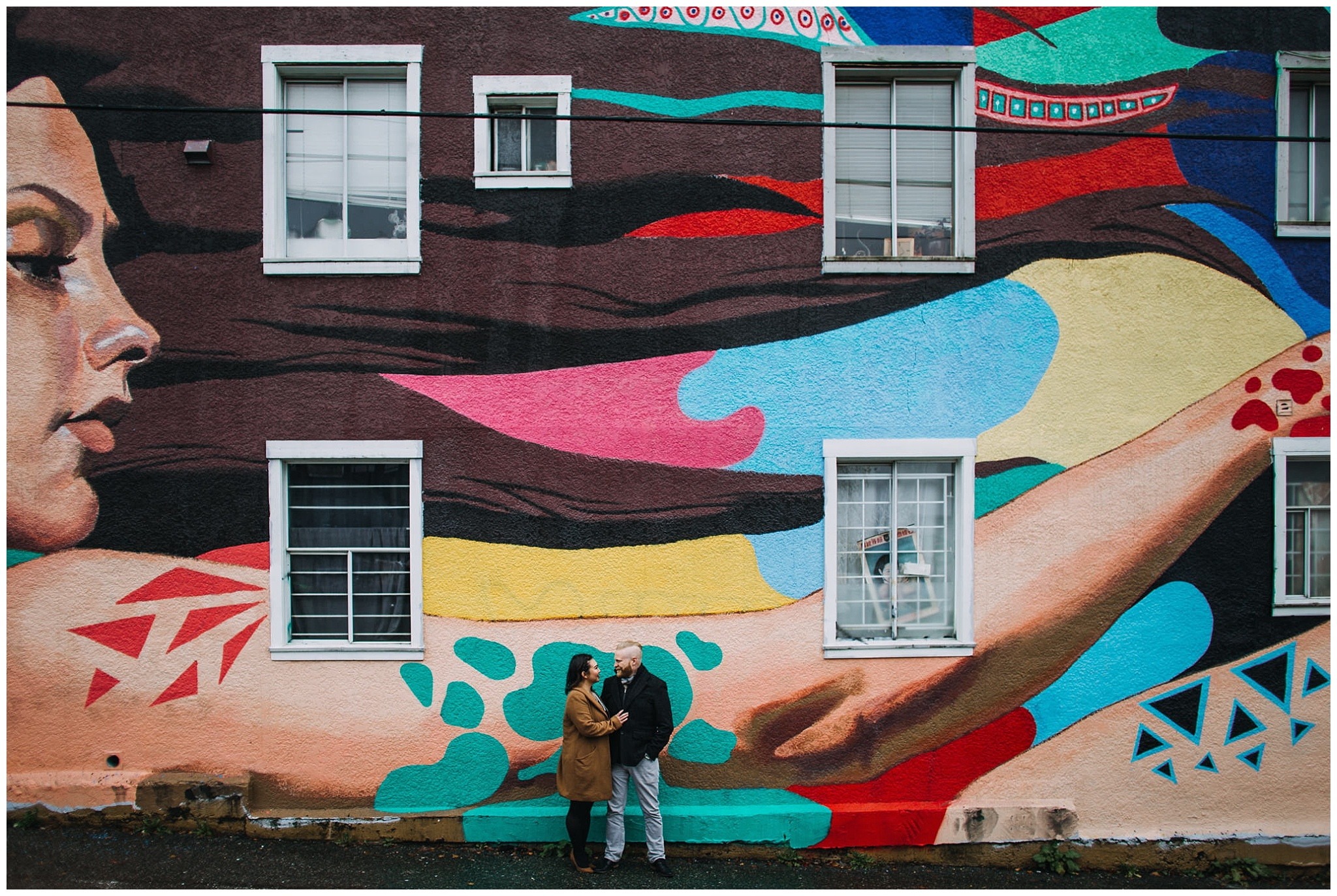 vancouver mural festival engagement photos vancouver