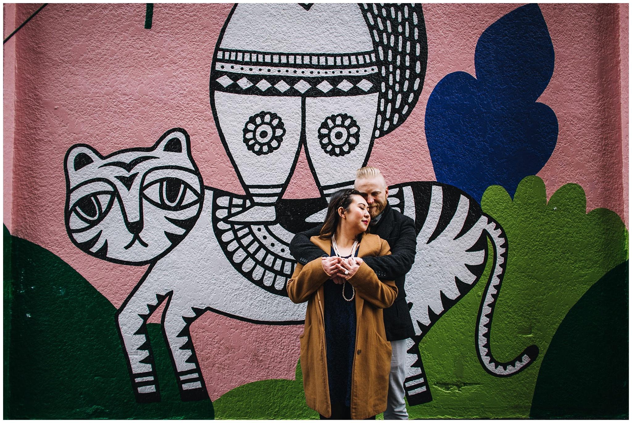 vancouver mural festival 2017 engagement photos sandeep johal artist
