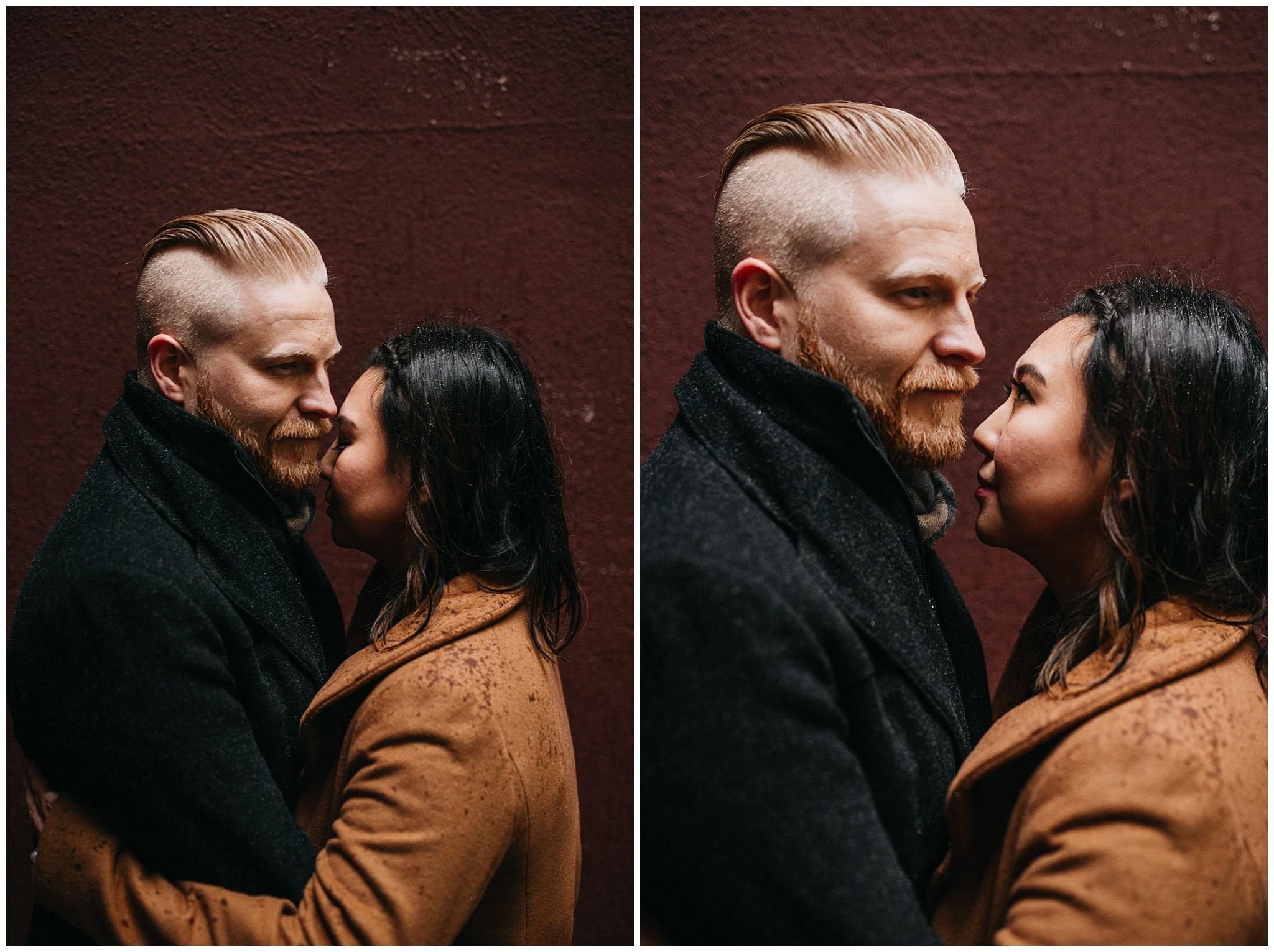 couple vogue engagement photos vancouver city