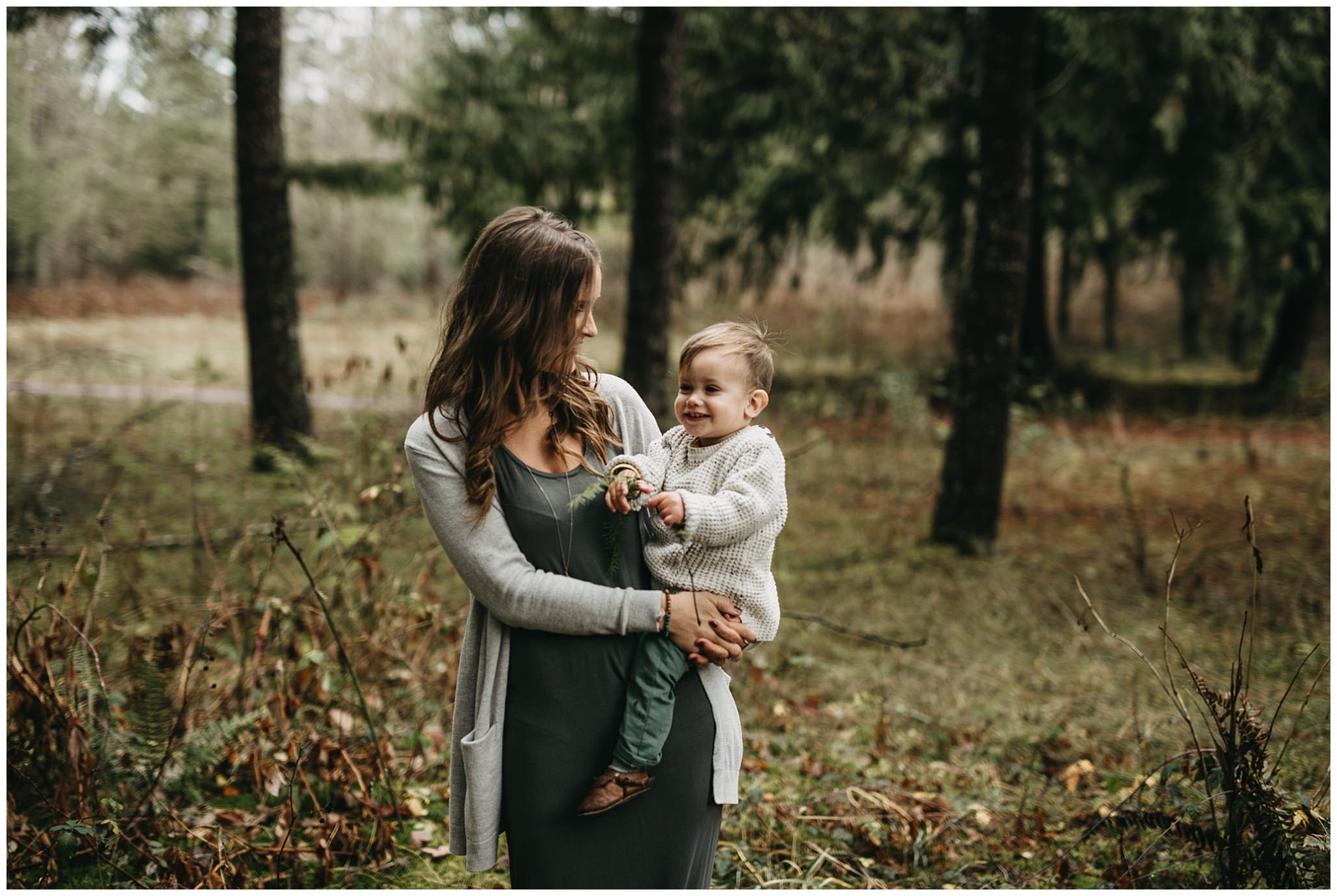 mom holding son toddler family photos chilliwack forest