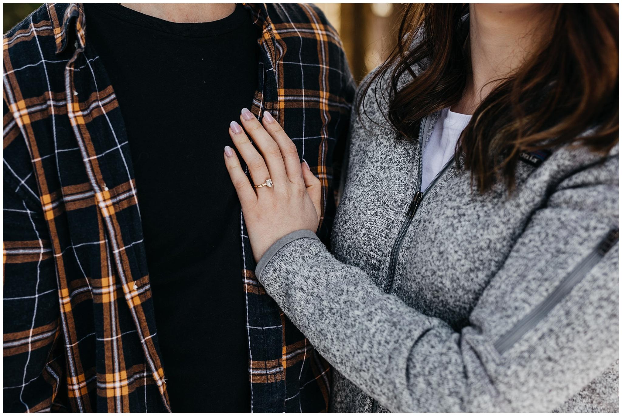 engagement ring jones lake couples photos