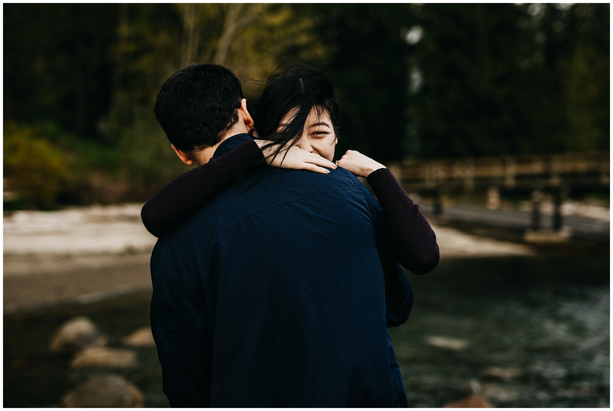 windy moody north vancouver engagement session sunset