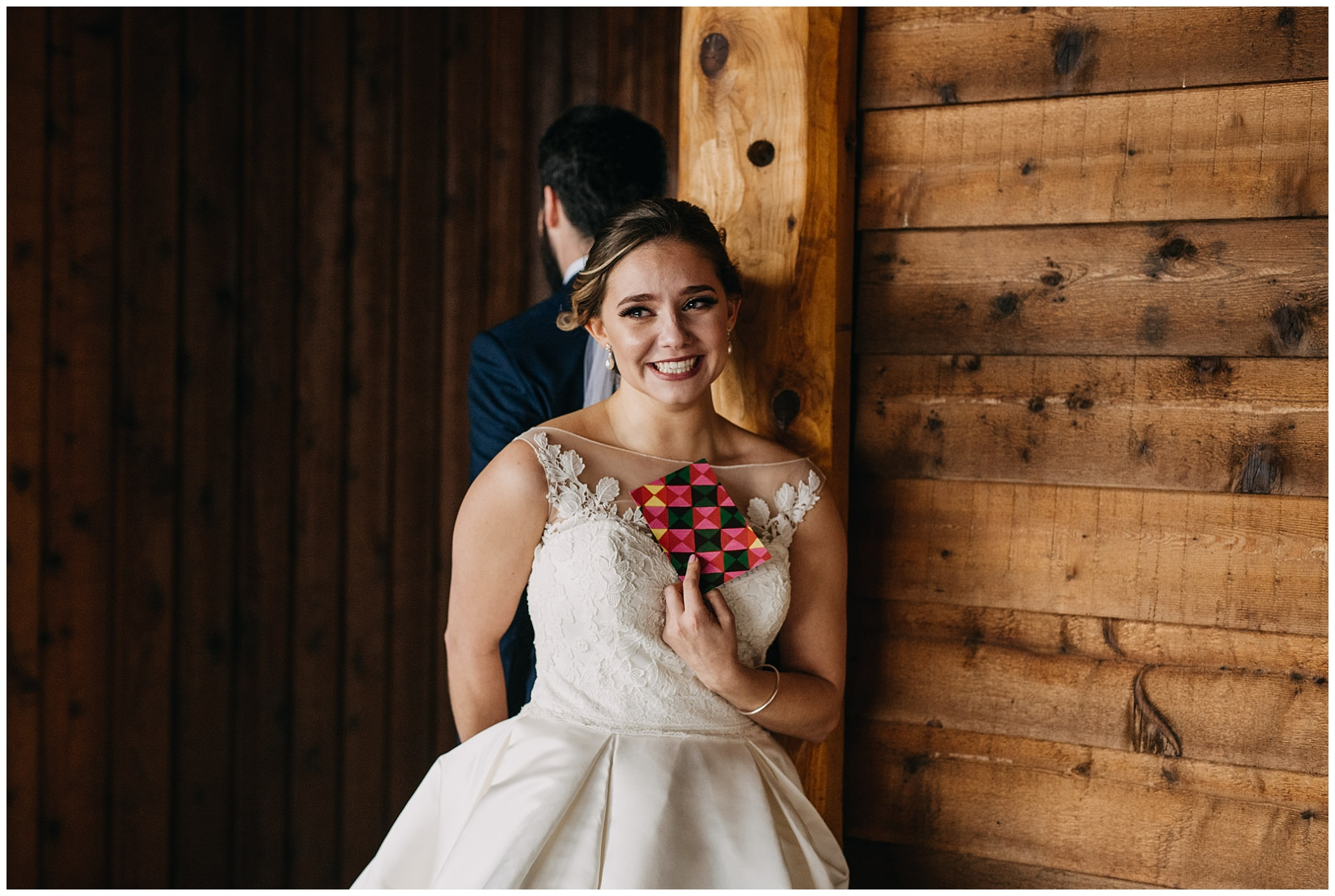 bride first look reaction at fraser river lodge wedding