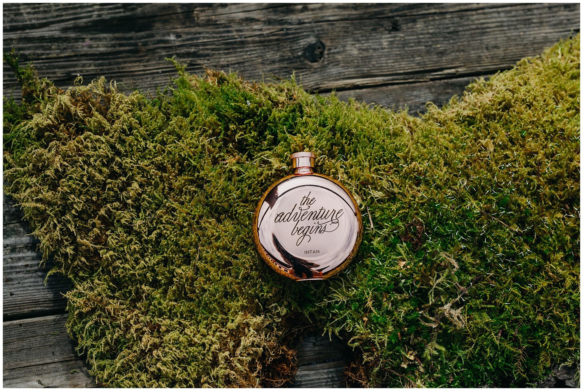 bride wedding flask gift fraser river lodge wedding