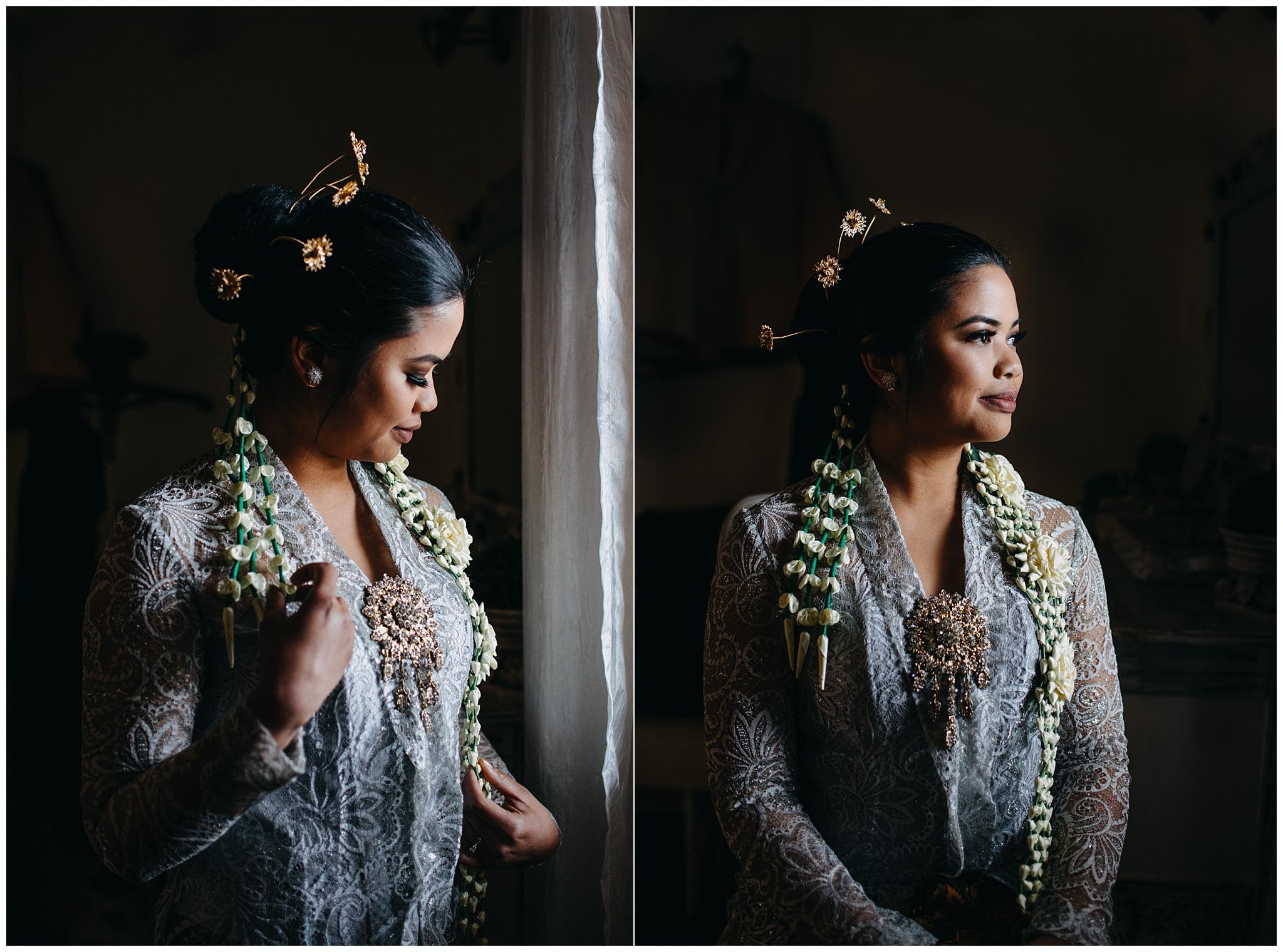 dramatic artistic bride portrait at fraser river lodge wedding