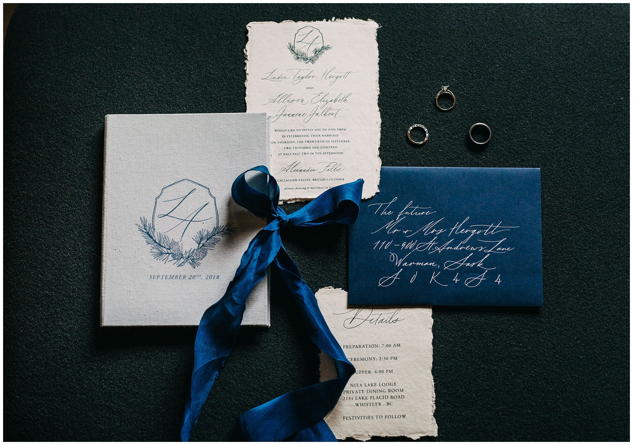 wedding invitation suite from paperocelot studios