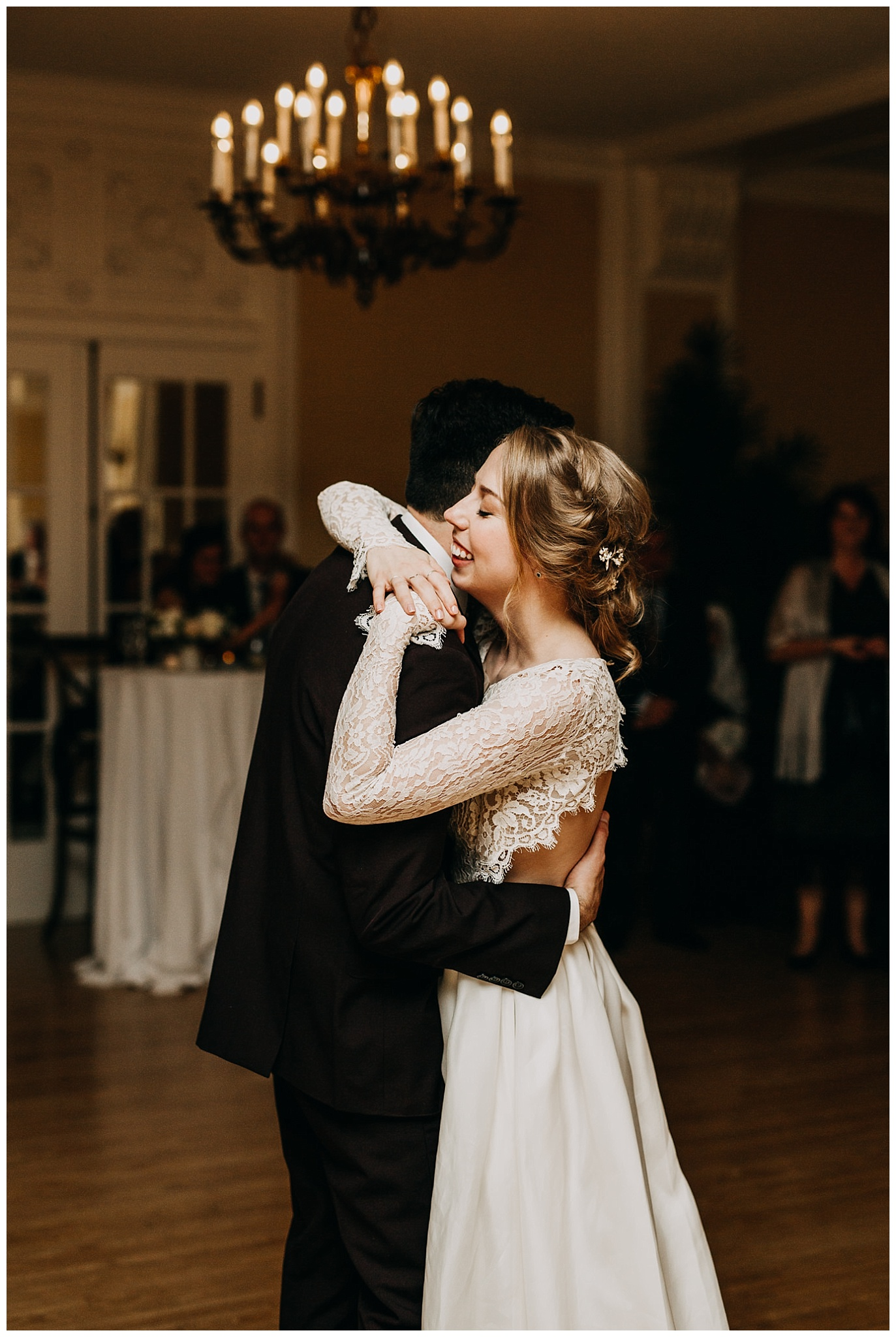 bride and groom first dance at Hycroft Manor wedding