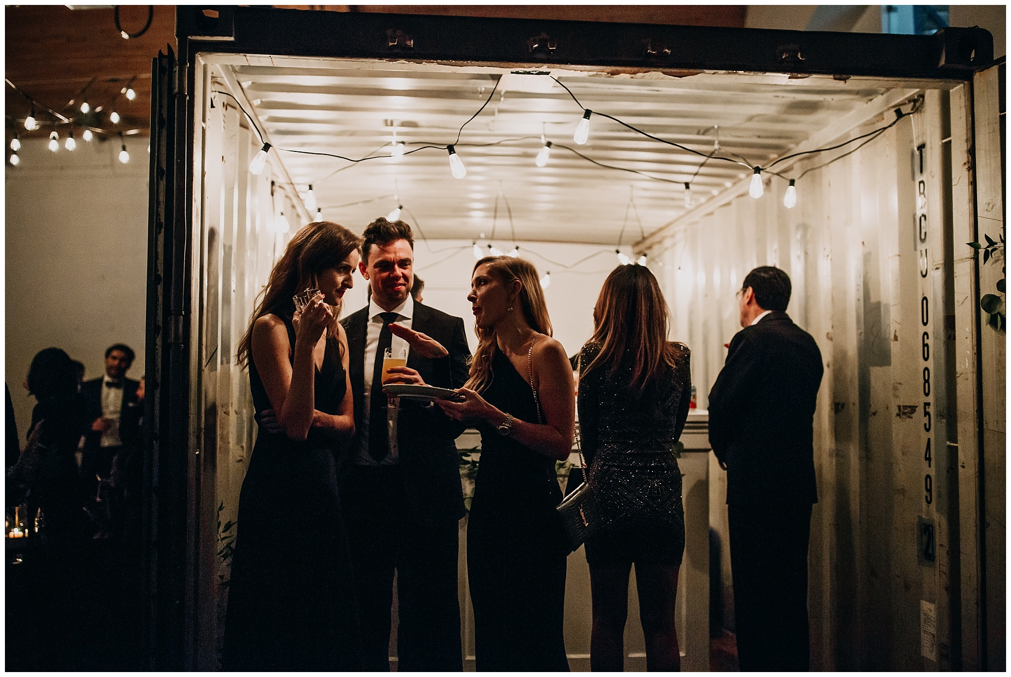 settlement building shipping container bar new years eve wedding