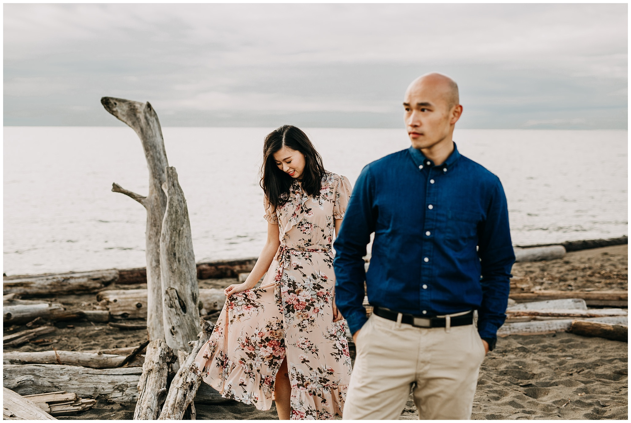 autumn iona beach engagement session