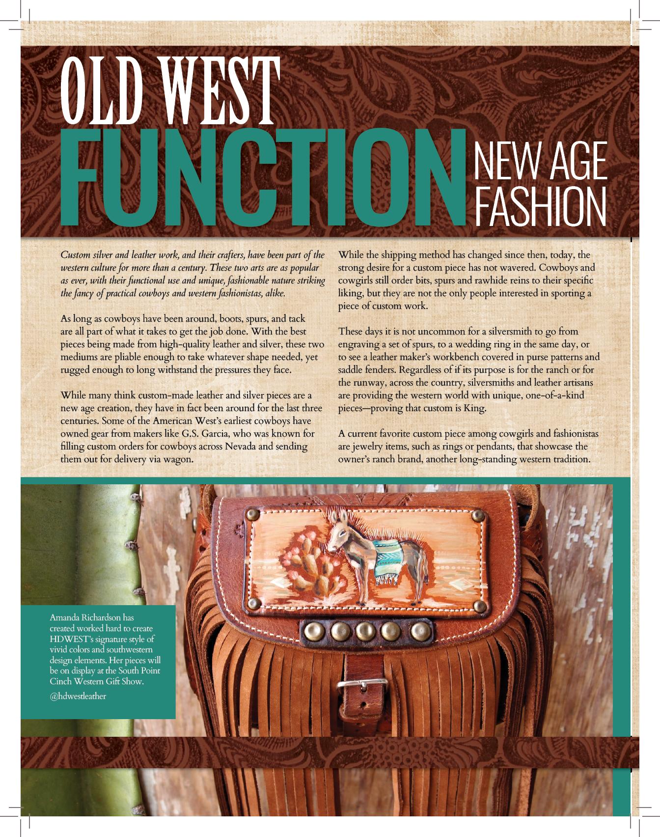 Western Runway Magazine - November 2017Old West Function, New Age Fashion