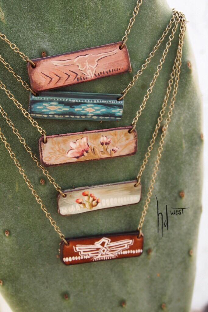bar necklaces - $40 ready to ship