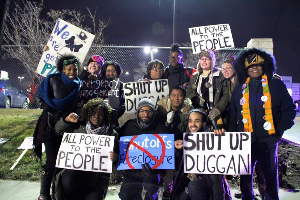 Group of activists and organizers who came together for this action. Photo credit:   Shanna Merola