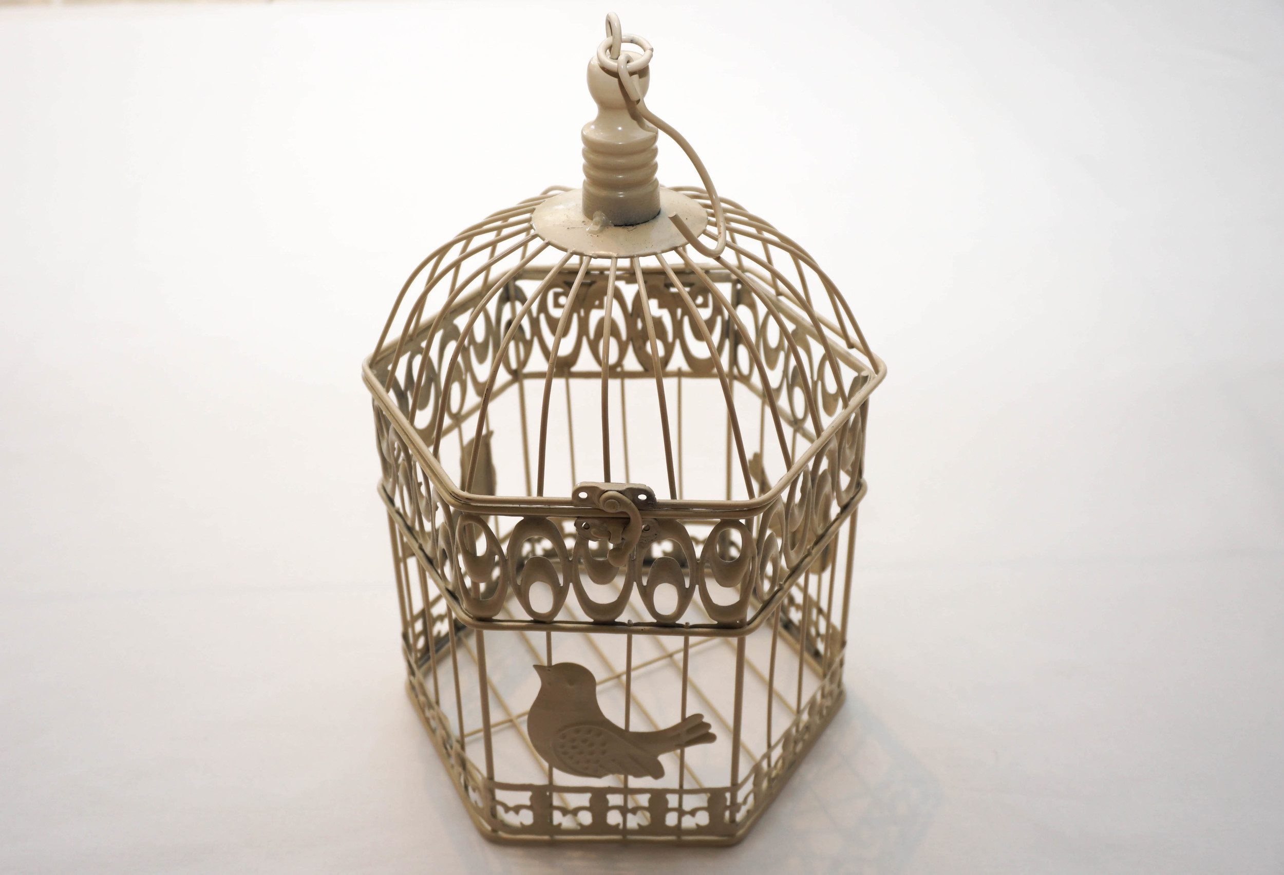 Hire accessories, birdcage, wishing well and candelabras for hire