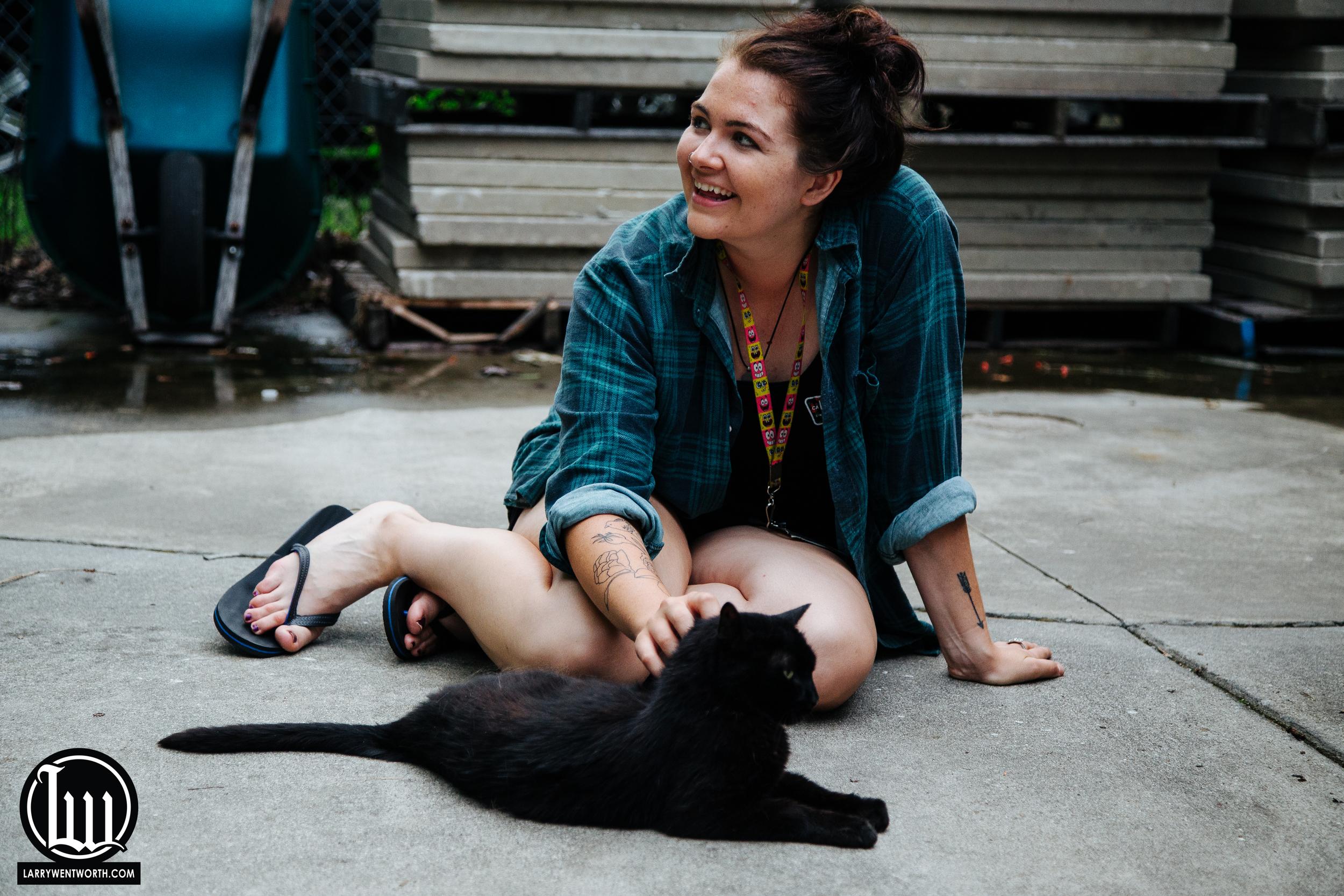 Ashley Osborn and her new friend
