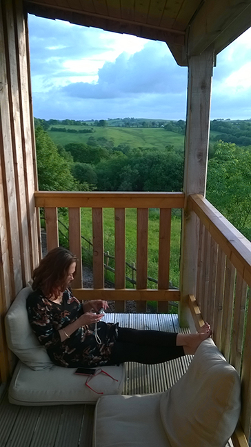 "Feet up on the Eco Lodge verandah  outside ""Owls Roost"" after a nice long walk. Aaah bliss!"